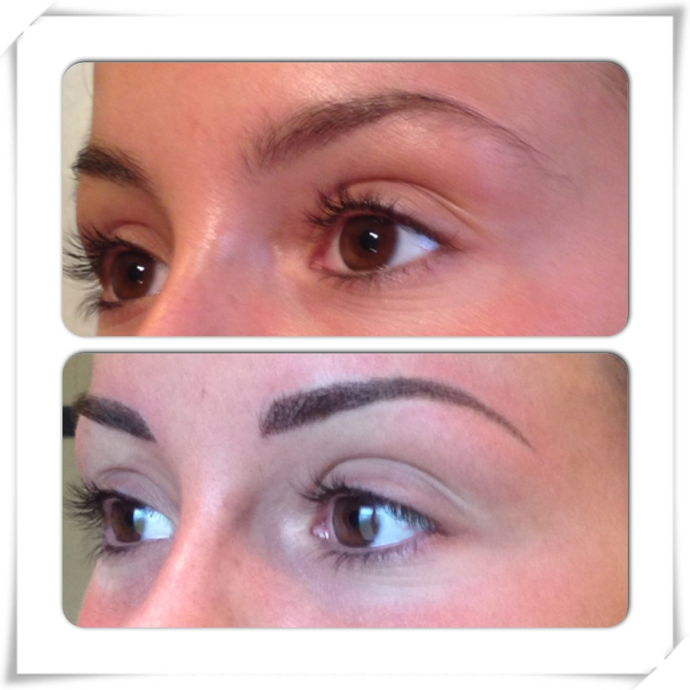 Maquillage permanent sourcils densification point par point